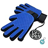 Pet Grooming Glove Gentle De-Shedding Brush for Dogs & Cats with Long & Short Fur Hair Removal Mitt Comfortable Massage Tool Dark Blue 1 Pair Your Pet Will Love It