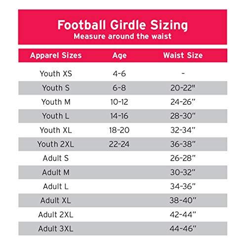 Cramer Classic 5-Pad Football Girdle With Hip,...