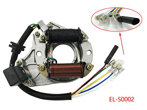 Atv Stator - 2 Coil Stator Ignition Magneto Plate for 50cc 70cc 90cc 110cc 125cc ATV Quad Chinese Taotao Sunl JCL