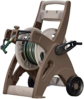 product image for Suncast Hosemobile Garden Hose Reel Cart - Lightweight Portable Garden Cart with Wheels, Storage Tray, and Crank Handle - 175' Hose Capacity - Mocha and Taupe