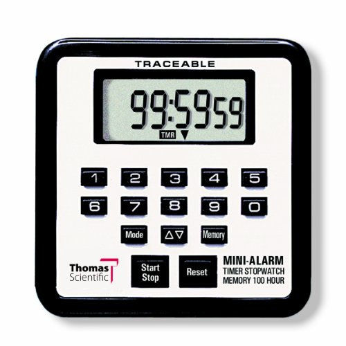 Thomas Laboratories Stop (Thomas 5021 Traceable Mini Alarm Timer/Stopwatch, 0.01 Percent Accuracy, 2-3/4