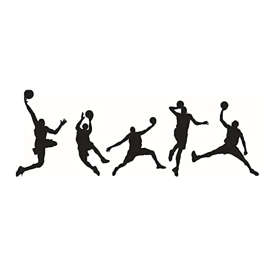 Ogquaton Pegatinas de Pared, Jugar Baloncesto Hombre Etiqueta de ...
