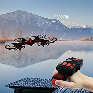 Drone with HD Camera Live Video 2.0MP 720P Easy to Control with Wearable G-Sensor Remote Control Emulational Pterosaur Quadcopter 2 Batteries 6Axis Cruise Flight Altitude Hold WiFi FPV Helicopter Toy by Kidcia