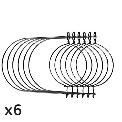 Stainless Steel Wire Handles for Mason, Ball, Canning Jars (6 Pack, Wide Mouth)