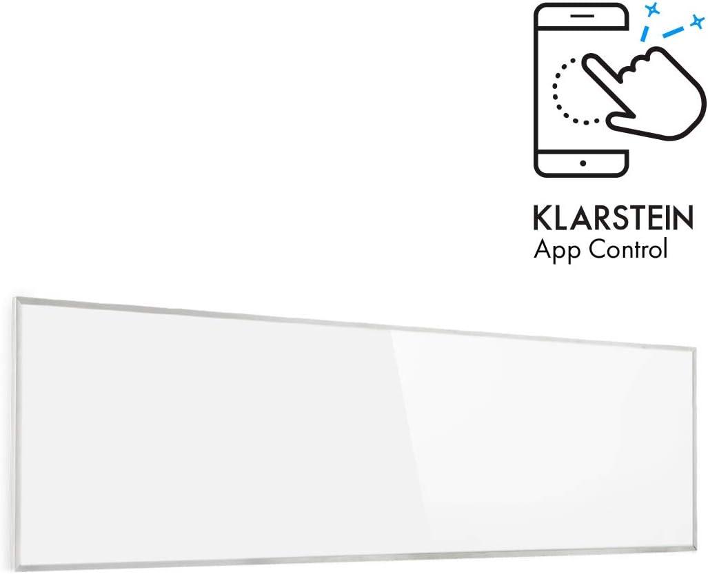 60x120cm wei/ß Smart Infrarotheizung Wochentimer IP24 Klarstein Wonderwall 720W