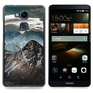 GIFT CHOICE / Teléfono Estuche protector Duro Cáscara Funda Cubierta Caso / Hard Case for HUAWEI Ascend MATE 7 // Snow Mountain Himalaya //