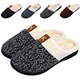 Women's Memory Foam Slippers Comfort Wool-Like Plush Fleece Lined House Shoes for Indoor