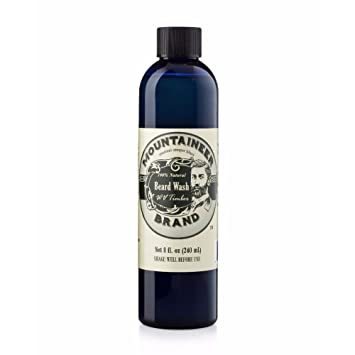 Beard Wash by Mountaineer Brand (8oz) | WV Timber Scent (Cedarwood/Fir  Needle) | Premium