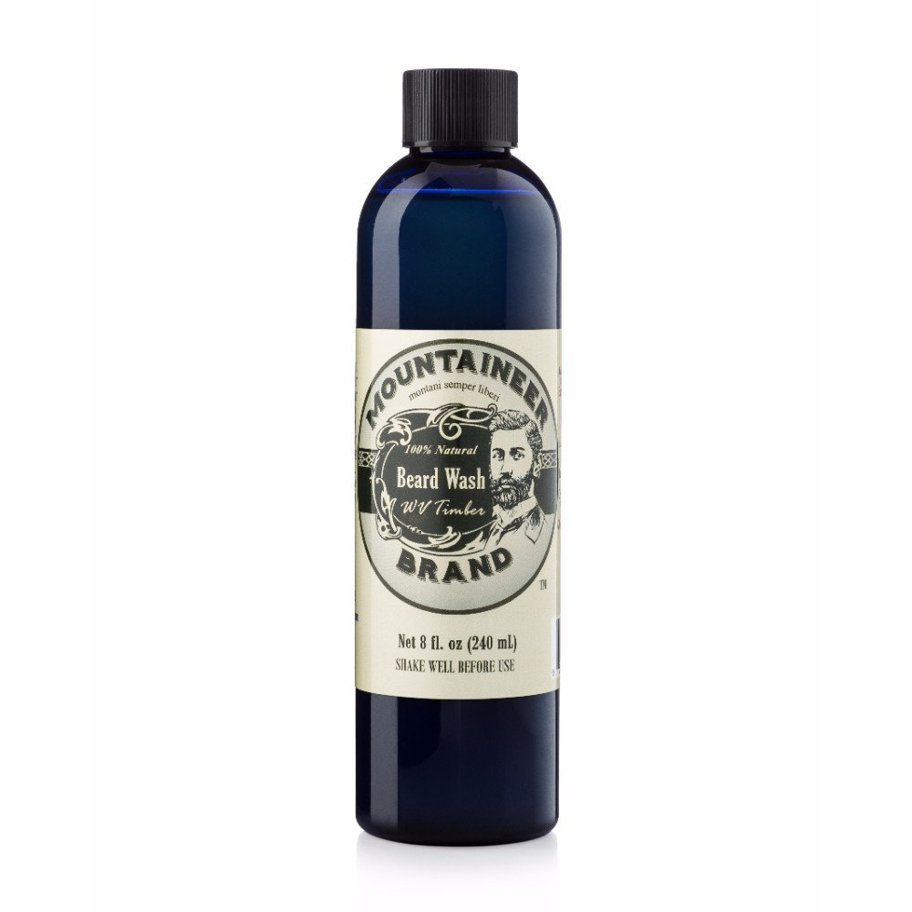 Beard Wash by Mountaineer Brand All-Natural beard shampoo - Cleans and Conditions (8 ounce, WV Timber)