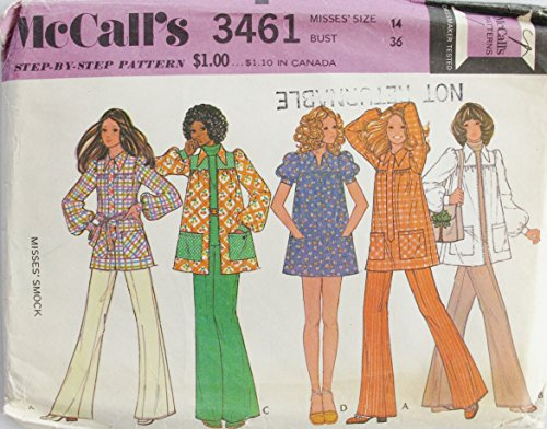 McCall's 3461 Misses Smock Top Sz 14 SEWING PATTERN