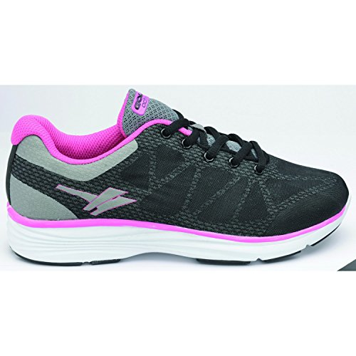 Gola - Zapatillas deportivas modelo Ice para mujer Negro/gris/rosa