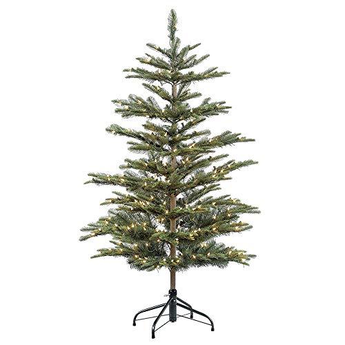 Puleo International 4.5 Foot Pre-Lit Aspen Fir Artificial Christmas Tree with 250 UL Listed Clear Lights, Green