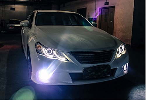GOWE Car Styling for Toyota Reiz led headlights 2010-2013 new Mark X LED Head Lamp signal drl H7 hid Bi-Xenon Lens low beam Color Temperature:8000K;Wattage:35K 1