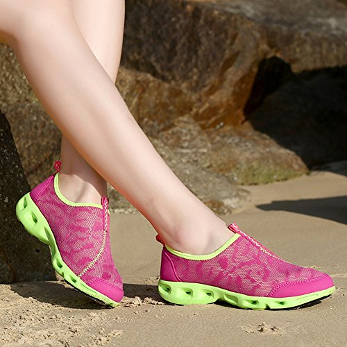 Water Women's Rose Red Running Ausom Sneakers Shoes Athletic Walk Breathable Pool Comfortable Aqua Beach 8TxwfB