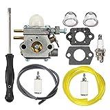 HIPA 753-06190 Carburetor with Fuel Line Filter Spark Plug for MTD Troy Bilt TB21EC TB22 TB22EC TB32EC TB42BC TB80EC TB2040XP String Trimmer Brushcutter