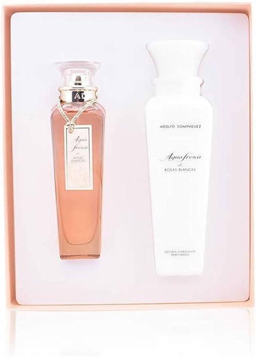 ADOLFO DOMINGUEZ Agua Fresca De Rosas Blancas Lote 2 Pz 1 Unidad 1200 g: Amazon.es: Belleza