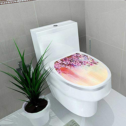 Philip C. Williams Toilet Sticker Flower Asian Temperate Zone Branch Mass Wisteria Pollen Cultivar Home Decor Applique Papers W12 x L14