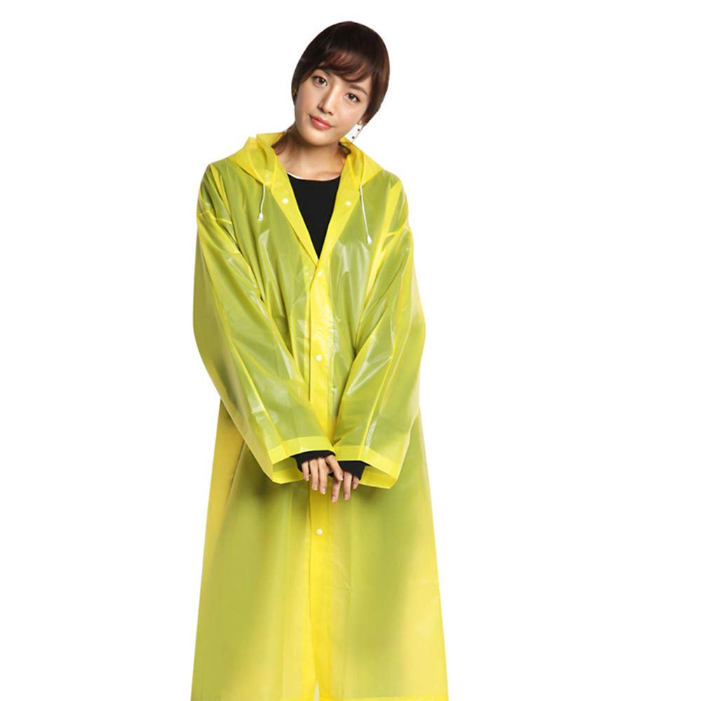 Sunnywill Chubasquero Adulto Mujer Impermeable Chubasquero Hombre Largo Chubasquero Mujer Plegable Rain Poncho Transparente Sudadera con Capucha Port/átil Adulto No desechable