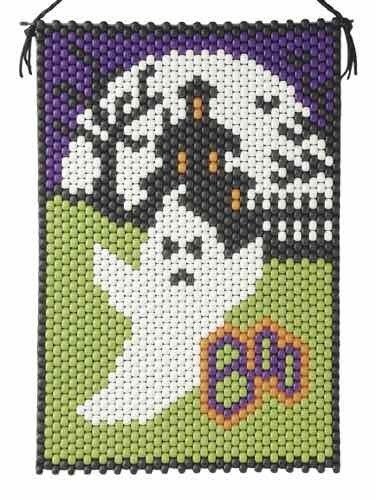 (Boo Ghost Beaded Banner Kit - The Beadery - 5068 - Pony Beads)