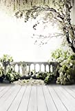 Kate 10x20ft/3x6m Digital Photography Backdrops Wood Floor White Flowers Background Natural Scenery For wedding Photo Studio Backdrop