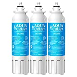 AQUACREST Refrigerator Water Filter, Compatible with LG LT800P, ADQ73613401, ADQ73613402, Kenmore 9490, 46-9490 (Pack of 3)