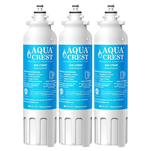 AQUACREST Refrigerator Water Filter, Compatible with LG LT80