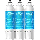 AQUACREST LT800P Replacement Refrigerator Water Filter, Compatible with LG LT800P, ADQ73613401, ADQ73613402, Kenmore 9490, 46-9490 (Pack of 3)