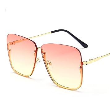 xuexue Gafas De Sol Cuadrado Color Sin Marco Espejo Plano ...