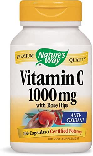 Nature's Way Vitamin C with Rose Hips Extra Strength; 1000 mg per Serving; 100 Capsules
