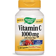 Nature's Way Vitamin C 1000 with Rose Hips, 100 Capsules