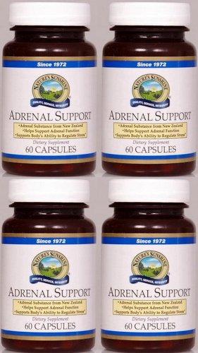 Naturessunshine Adrenal Support système immunitaire soutien 60 Capsules (pack de 4)