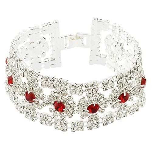 HONEYJOY Fasion Flower Rhinestone Bracelet product image