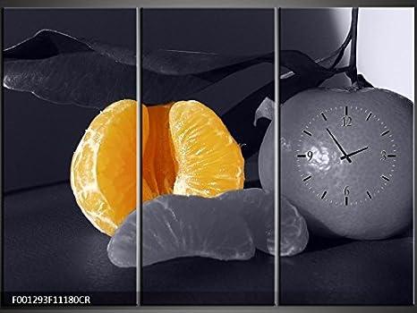 Orologi Da Parete In Tela : Tlg tela foto orologio da parete mandarini murale su tela