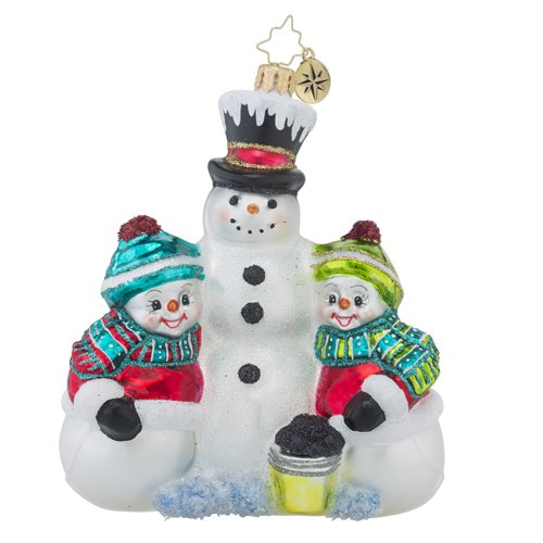 Christopher Radko Frosty Friends Snowman and Family Christmas Ornament (Ornament Frostys Favorite)