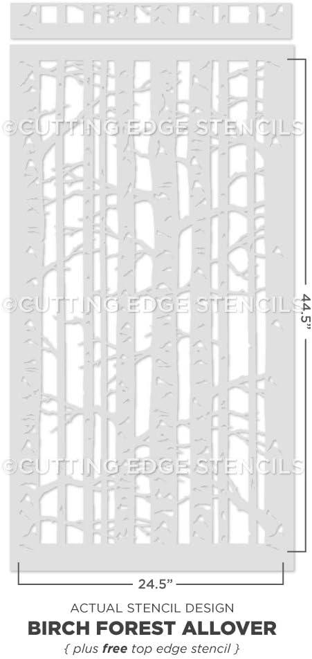 Birch Tree Stencil Reusable Allover Forest Stencils for DIY Home Decoration
