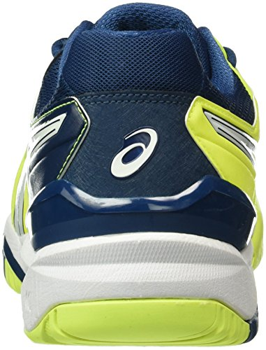 Asics Gel-Resolution 6, Men's Tennis Shoes Multicolor (Safety Yellow/White/Poseidon)