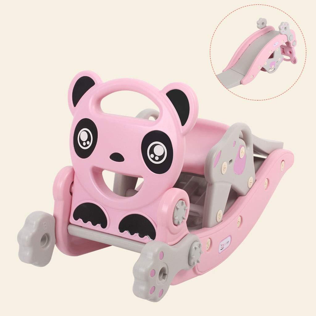 YangMi 子供用の木馬- 子供用スライドロッキングホースコンボ、ベビー用ベビー兼用プラスチックトロイの木馬スライド玩具 (色 : ピンク, サイズ さいず : 96x36x53cm) 96x36x53cm ピンク B07QG7MRRN