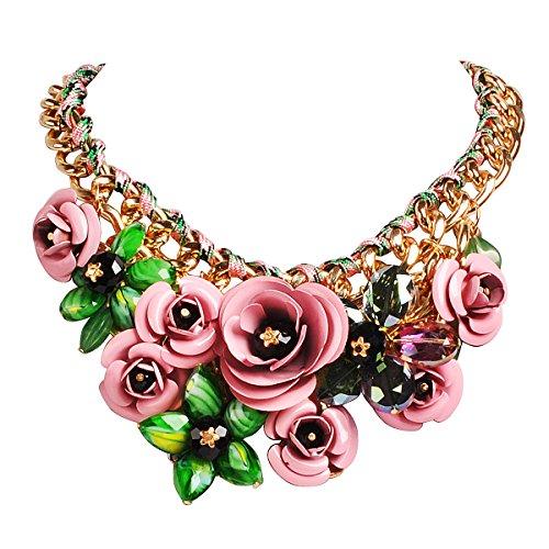 Flower Collar Necklace - 7