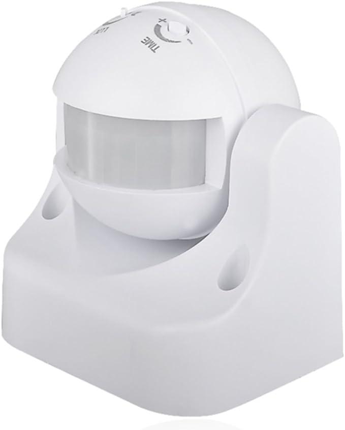 interruptor crepuscular y timer IP44 color blanco, Electraline 58412 Sensor detector de presencia de movimiento
