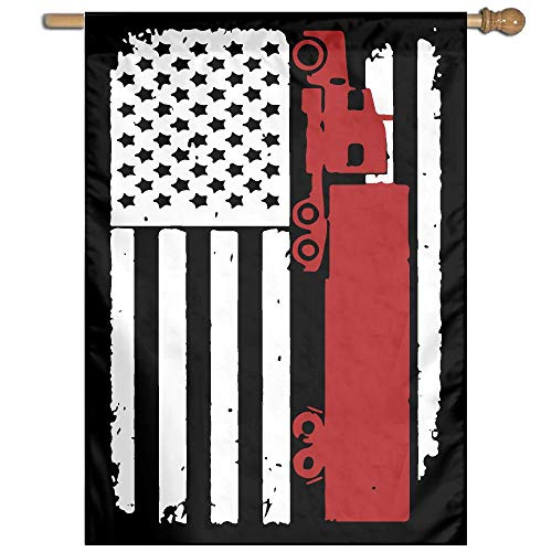 Trucker American Flag Printed Outdoor/Home Garden Flag for Present