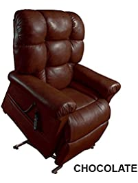 Perfect Sleep Chair Lift Chair U0026 Medical Recliner   Duralux Leather    Chocolate