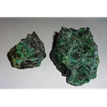 2pc #4 Raw Chrysocolla Natural Rough free form Crystal Healing Gemstone Cluster Specimen Stones