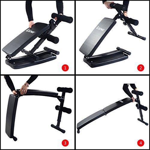 Goplus Sit Up Bench Foldable Decline Ab Fitness Adjustable Equipment