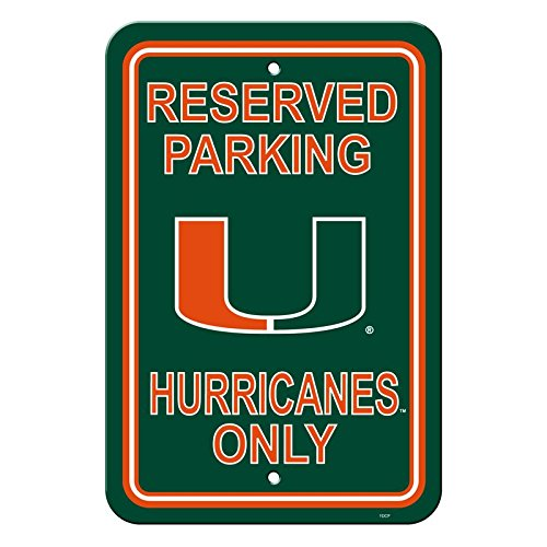 NCAA Official National Collegiate Athletic Association Fan Shop Authentic Parking Sign (Miami Hurricanes) ()