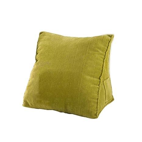 ACZZ Almohada de lectura de sofá de terciopelo con bolsillo ...