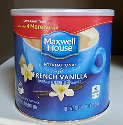 Maxwell House International Coffee French Vanilla Cafe, 29 Ounce Cans (Pack of 2). by Maxwell House