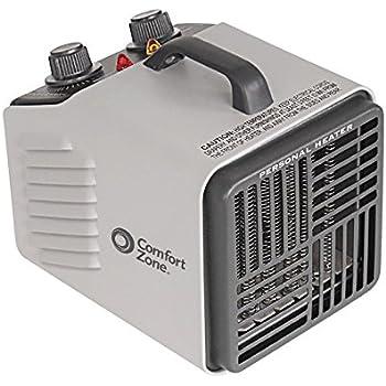 Comfort Zone Personal Heater Fan|2 Heat Settings