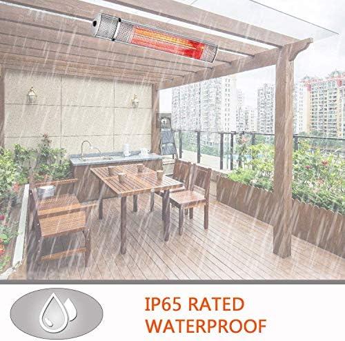 SURJUNY - Calentador eléctrico para Patio, Interior o Exterior, Montaje en Pared, T01: Amazon.es: Jardín