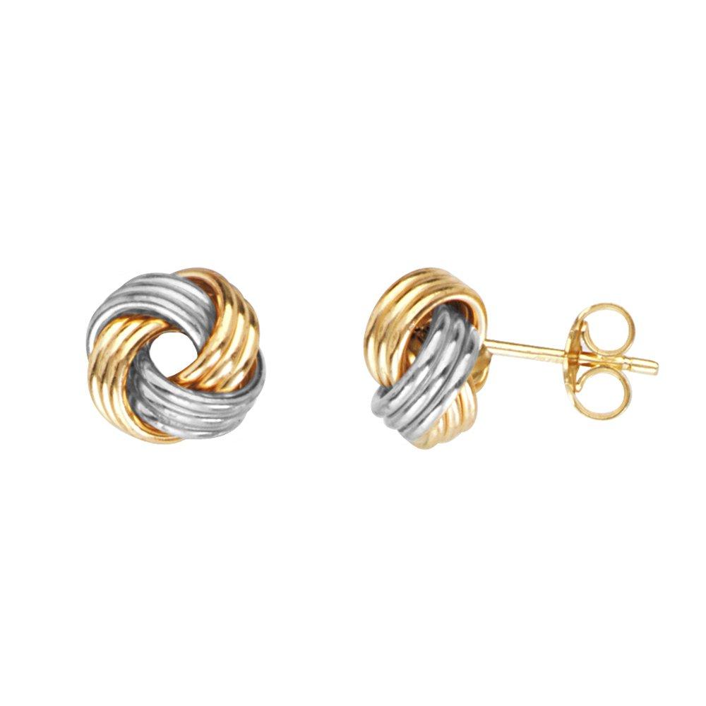 Love Knot Earring, 14Kt Gold Love Knotpost Earring