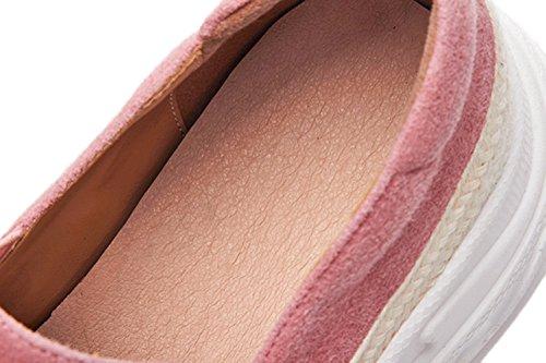 Scarpe Spessa Cuciture 39 WSXY In Elegante Pelle Pink KJJDE Donna Suola Piattaforma Q1605 BnSFFOv5